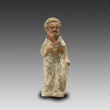 Greek Terracotta Statuette of a Standing Actor