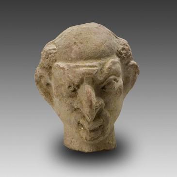 Grotesque Terracotta Head (Mime or Actor)