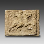 Roman Marble Relief representing the 'Thracian Horseman'