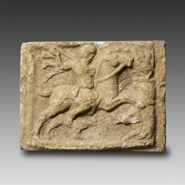 Roman Marble Relief representing the 'Thracian Horseman'