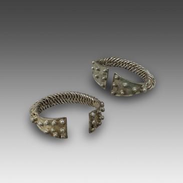 Pair of Silver Bracelets
