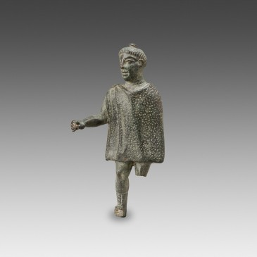 Bronze Figure of a Man wearing a Chlamyd