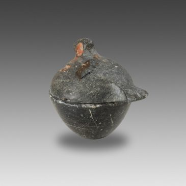 Pyxis with Bird-Shaped Lid