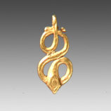 Snake-Shaped Gold Pendant-9534