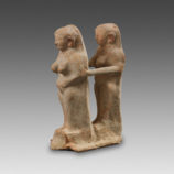 Levantine terracotta Group of two feminine statuettes-11495
