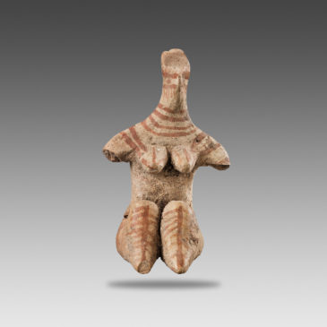Seated feminine statuette - 7947